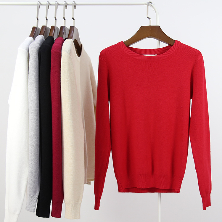 Winter Women Long Sleeve Casual Cashmere Sweaters And Pullovers Female Lover Trendy Solid Pull Femme Best Knitted Sweater W875