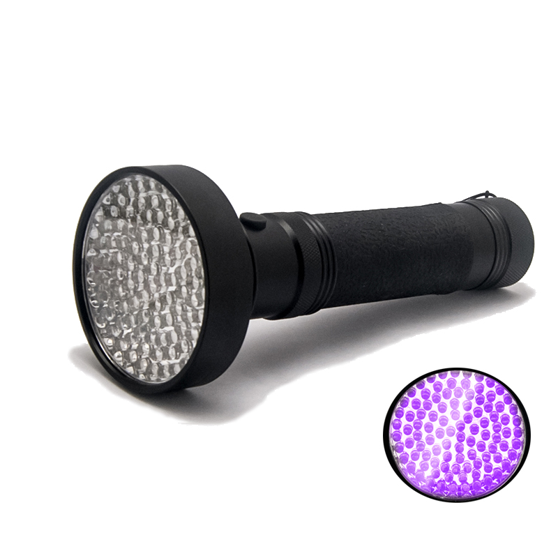 395nm UV Black Light Flashlight, 100leds Handheld LED Torch Powerful Light Beam for Detecting Pet Urine, Scorpion, Fluorescent convoy s2 black uv 365nm led flashlight nichia 365uv in side uv lamp light op reflector fluorescent agent detection