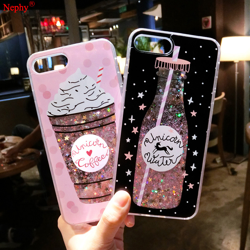 Shining Quicksand Liquid Sequin Silicone Case for iPhone XS MAX XR X ... 5636fabf813d