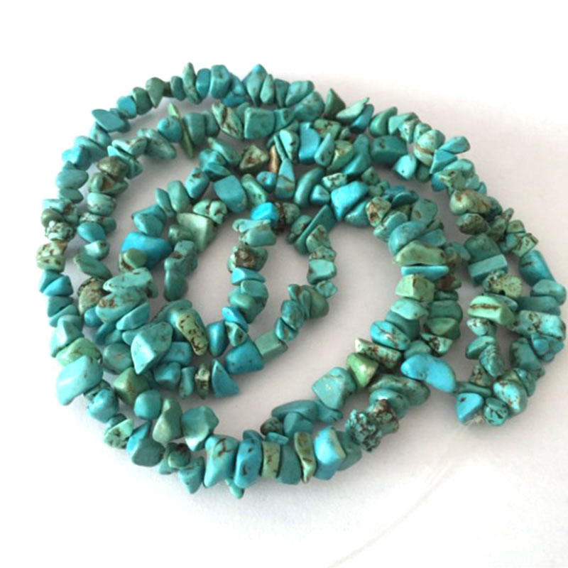 3-5x6-8mm Blue Turquoises Beads Natural Freeform Chips Stone Beads For Jewelry Making Beads Bracelets 32'' DIY Beads Trinket