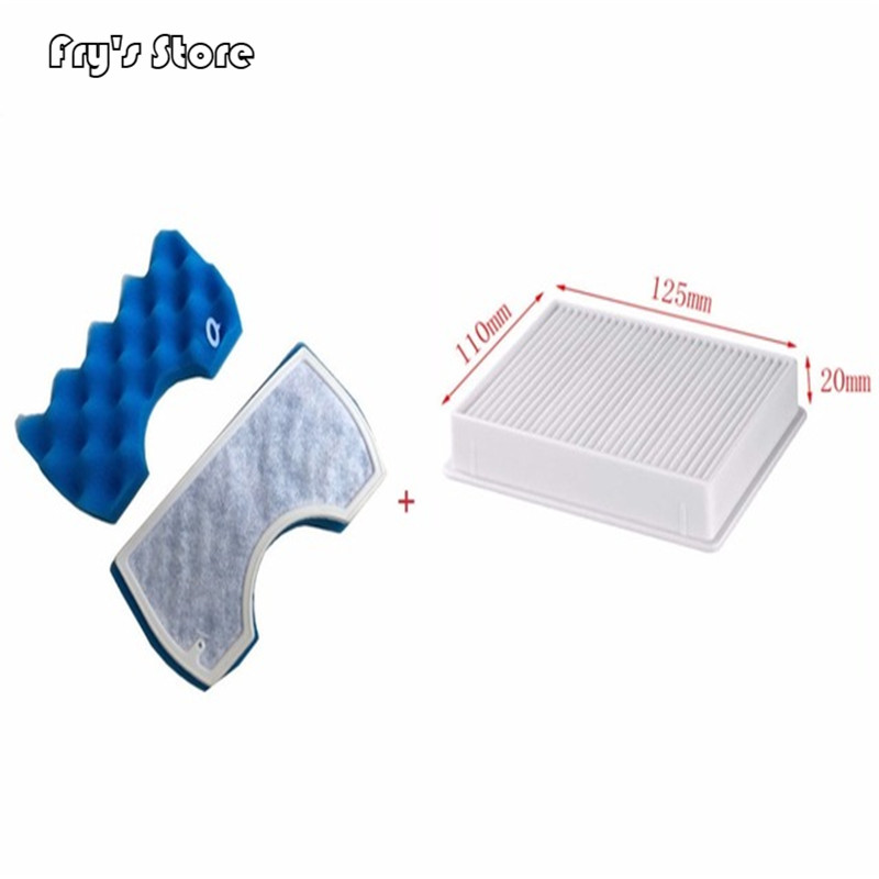 1*set Of Filter Cotton+1* Vacuum Cleaner Dust Filter HEPA H11 DJ63-00672D Filter For Samsung SC4300 SC4470 White VC-B7