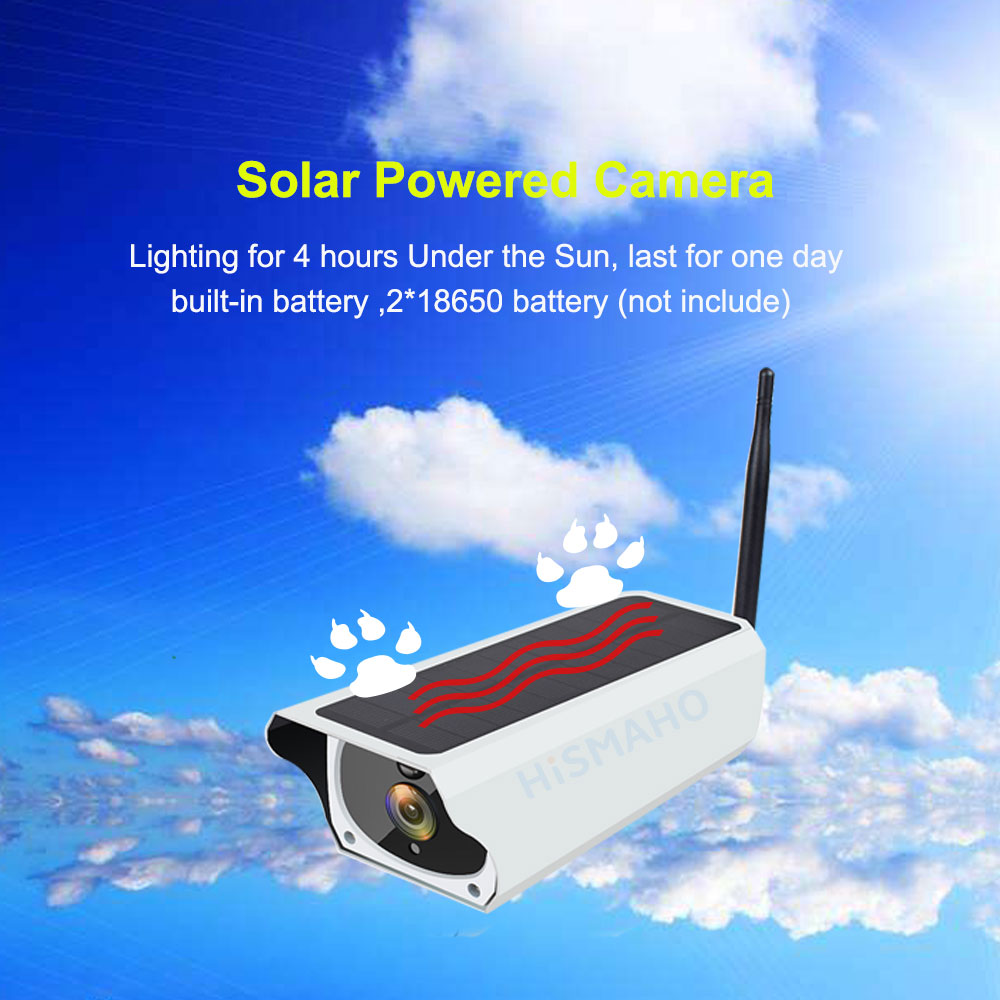 Solar WiFi IP Outdoor Camera 1080P HD Motion Detection 10