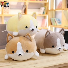 Plush Shiba Inu Corgi Toy Stuffed Dog Puppy Pet Doll Pillow Cushion Baby Kids Birthday Gift Home Shop Decor Triver стоимость