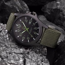 Outdoor Mens Date Stainless Steel Military Sports Analog Quartz Army Wrist
