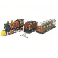 BEIOUFENG Vintage Tin Toys Train Classic Clockwork Toys For Adults Retro Wind Up Tin Toy With
