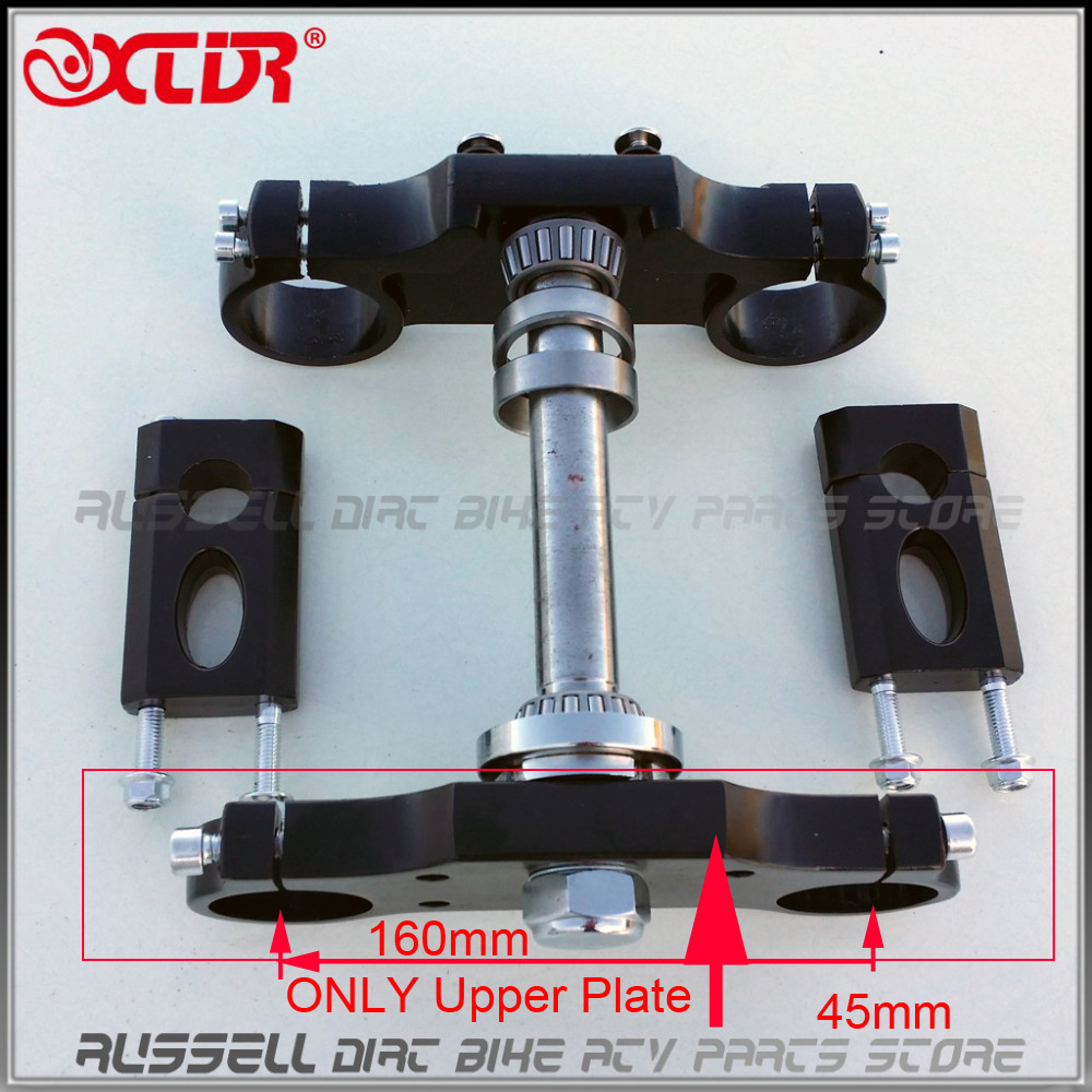 Universal black Handlebar triple Upper plate 45mm For Dirt Pit Bike ( only upper plate cover)(China)