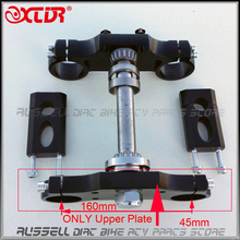 Universal black Handlebar triple Upper plate 45mm For Dirt Pit Bike ( only upper plate cover)