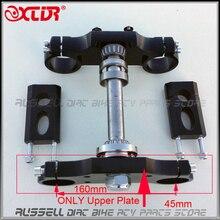 Uniwersalna czarna kierownica potrójna górna płyta 45mm dla Dirt pitbike (tylko górna osłona podstawy)