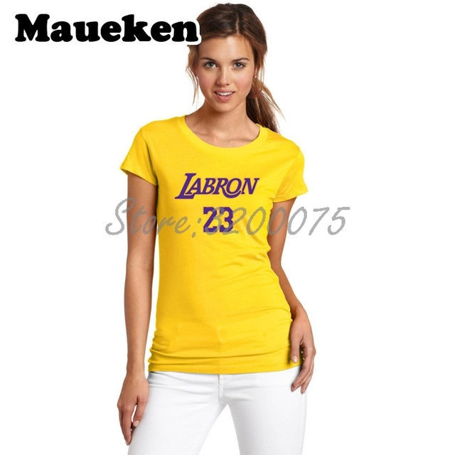 Women KING LeBron James 23 LA LABRON Los Angeles T-Shirt Lady Clothes  tshirt for fans o-neck tee T Shirt Girl W18071303 fdefe52f1