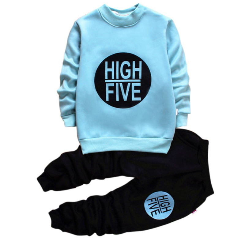 Spring  Autumn Casual Baby Boys Clothes Sets Letter Pattern Long Sleeved Tops+Pants kids Cotton Clothing Sets Suits 1-5Y комплект одежды для мальчиков kids clothes sets 2 bib 6m 5y boys clothing sets