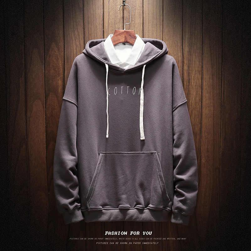 Mannen en vrouw Sweaters Pure Katoen Enkele Mannen Hoodies katoen afdrukken hoody sweatshirt plus size 5xl