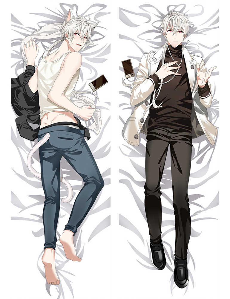 Anime Mystic Messenger Dakimakura characters Jumin Han & Zen & 707 otaku Dakimakura throw pillow cover Hugging Body pillowcase