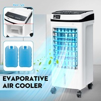 220V 50Hz Evaporative Air Conditioner Cooler Fan Ice Purifier Humidifier Remote Control Wide Angle Air Output 3 Wind Modes