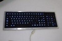 Металл с подсветкой USB клавиатура с подсветкой механическая клавиатура с повышенной прочности клавиатуры Нержавеющаясталь подсветкой USB
