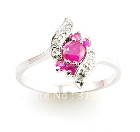 Wholesale Christmas Items Natural Ruby Ring 925 sterling silver ring Fine Gem Ring