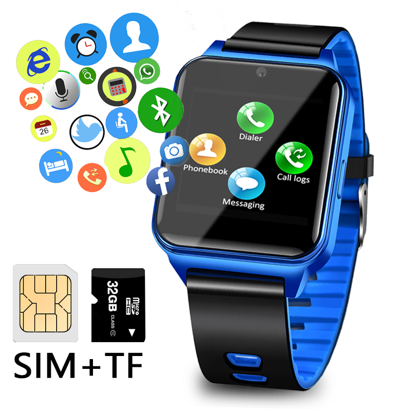 2019 LIGE Mens Smart Bracelet Waterproof Sport Pedometer Clock LED Large Screen Digital Watch Touch Screen Support TF SIM Card in Smart Watches from Consumer Electronics