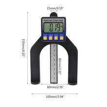 Ручной цифровой измеритель глубины 50 мм ЖК-дисплей измерение высоты W суппорт с магнитными ножками для фрезерного станка деревообрабатывающие измерительные инструменты