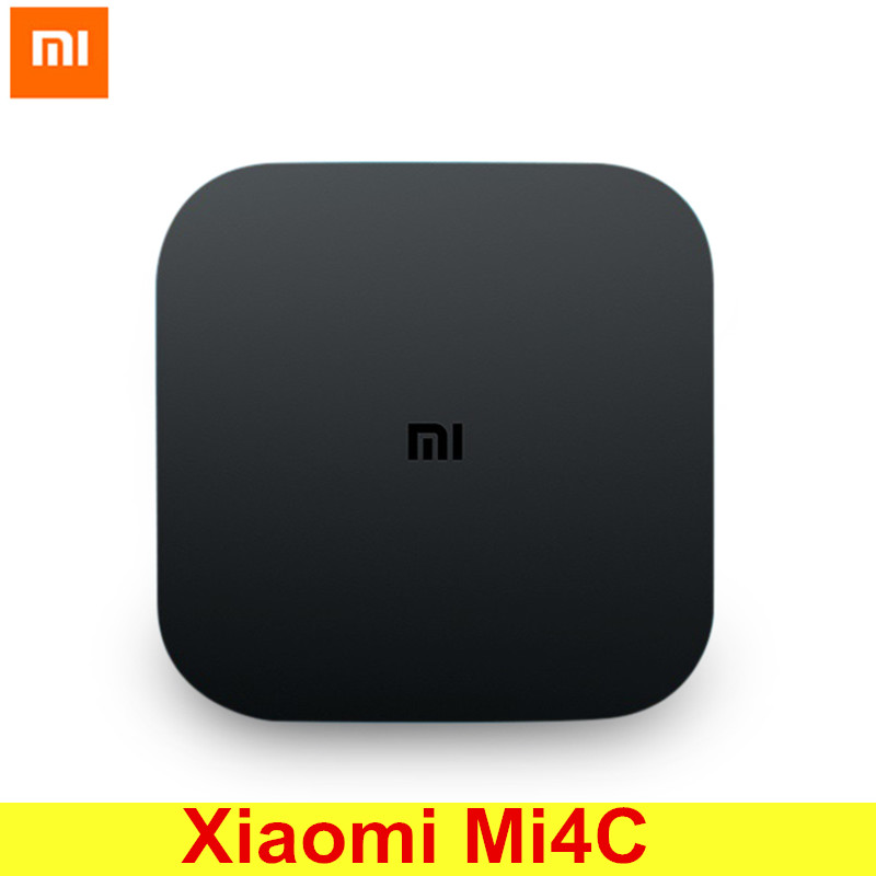 Original Xiaomi Mi4C Patchwall TV Box Amlogic S905L 1GB 8GB 2.4G Wi-Fi Bluetooth Set Top Box Supports 4K HDR Chinese Version original xiaomi mi4c patchwall tv box 1gb 8gb amlogic s905l 2 4g wi fi bluetooth set top box supports 4k hd smart media player