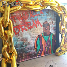 5 sztuk 80s 90s dekoracje świąteczne gigantyczny łańcuch balonowy balony złoto urodziny Hip Hop motyw ślubny Arch dostarcza Retro taniec Link