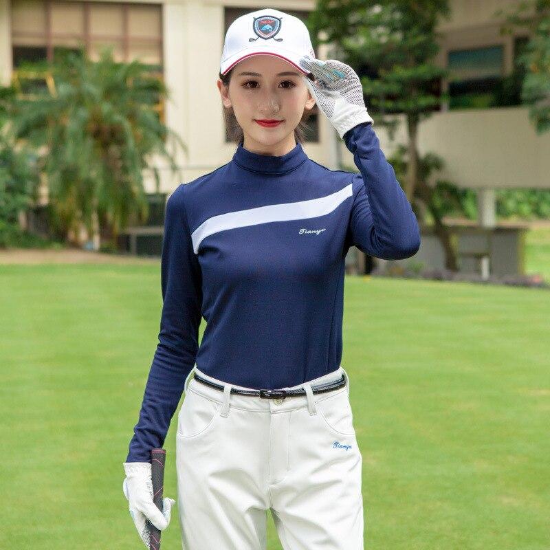 2019 femmes Golf chemises chaud polaire sport chemise à manches longues femmes o-cou Tennis vêtements de sport D0695