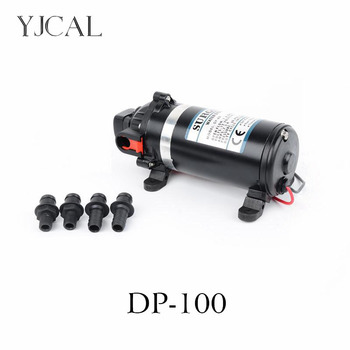 Electric High Pressure Diaphragm Pump DP-100 DC 12v 24v Vacuum Self-priming Solar Booster Water Pump Wash Car Boat Motor Pump solar water pump dc 12v 24v high pressure solar power pump submersible stainless steel well pump electric diaphragm garden