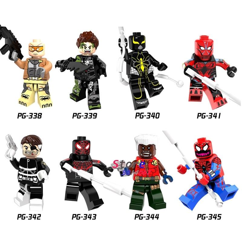 10Set Marvel Comics Series 7 Avengers Thor Iron man Hulk Nick Fury Venom blocks toys Model