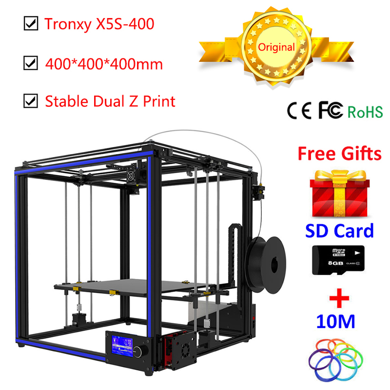New 3D Printer kit Large Printing Size 400*400*400mm Metal Frame i3 Heated Bed Self-Assembly High Precision large 3D Printer DIY цены