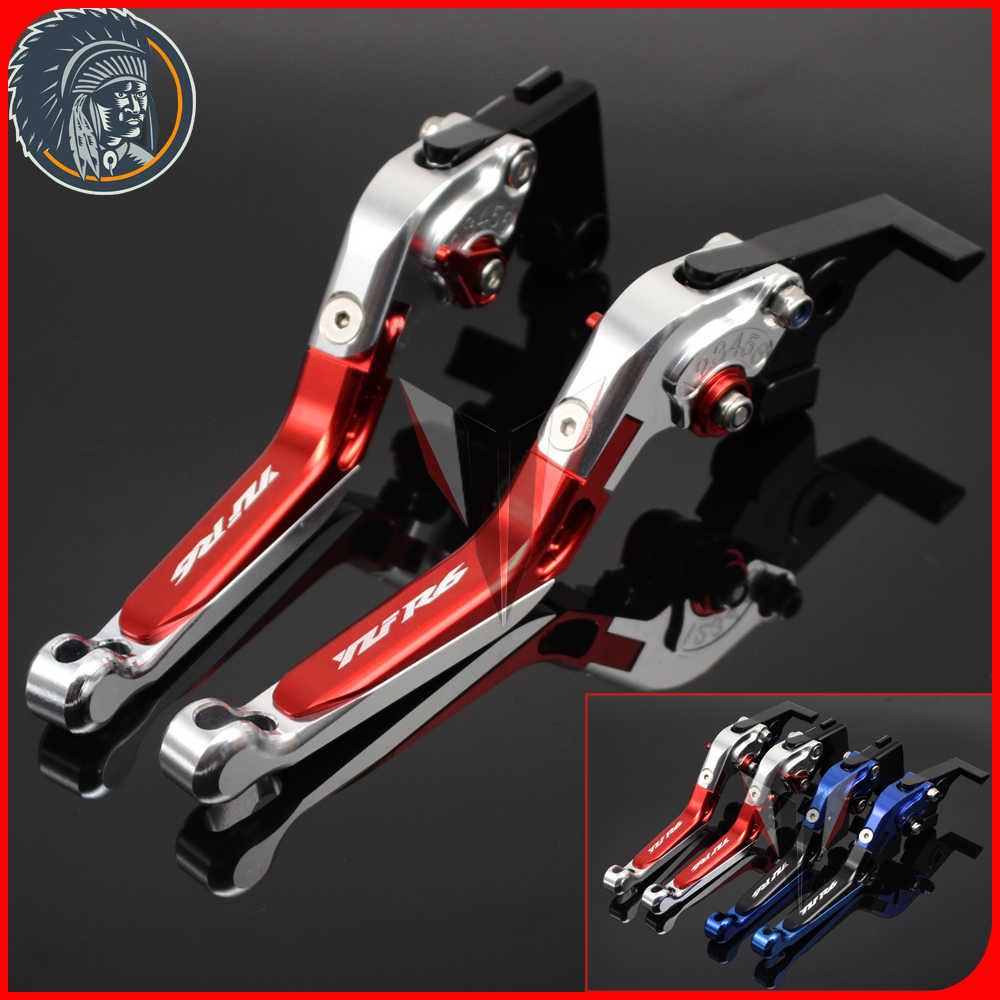 For Yamaha YZFR6 YZF-R6 2005-2016CNC Adjustable Levers Motorcycle Foldable Extendable Levers Brake Clutch Levers