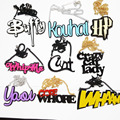Acrylic buffy kouhai HP whipme blam prettybitch Freak Senpai Zombie Yaoi Crazy cat lady necklace