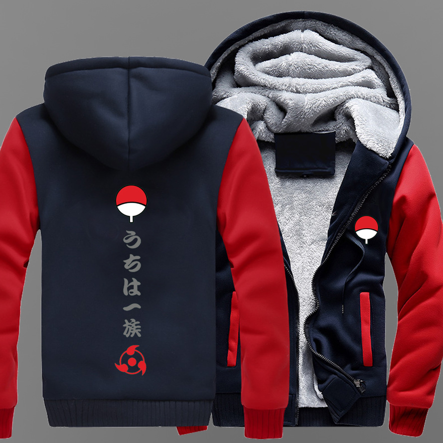 Dropshiping Fashion New  Men Women Anime NARUTO Cosplay Warm Jacket Sweatshirts Thicken Hoodie Coat plus size 5Xl