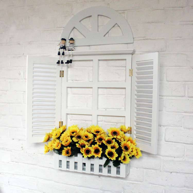 Window blinds white holiday decorative wall hangings fake ...