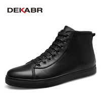 DEKABR Brand Men Boots Fashion Men Ankle Boots Winter Autumn Casual Men Genuine Leather Boots Man