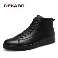 DEKABR Brand Men Boots Fashion Men Ankle Boots Winter Autumn Casual Men Genuine Leather Boots Man
