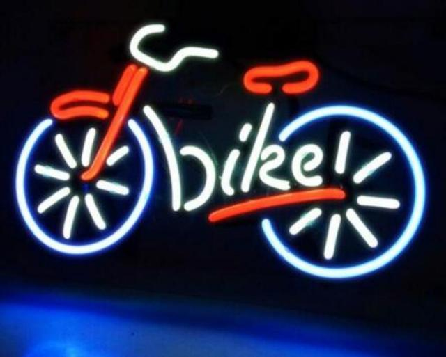Custom Bicycle Bike Motocross Rider with Neon Light Beer Bar