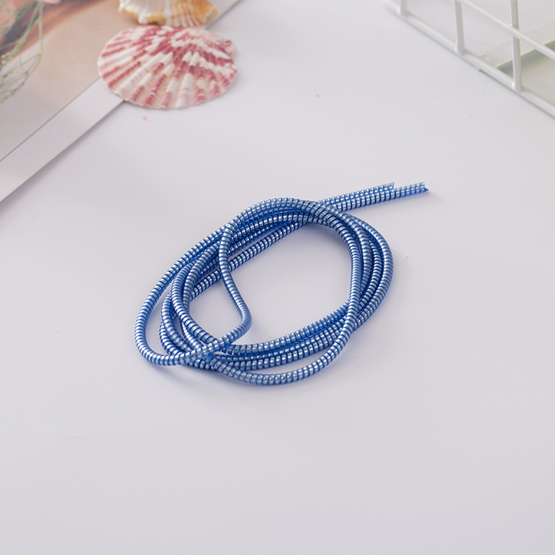 100 pièces 1.4 M USB charge données ligne câble protecteur fil cordon Protection câble enroulé enrouleur organisateur pour iPhone pour Samsung - 4