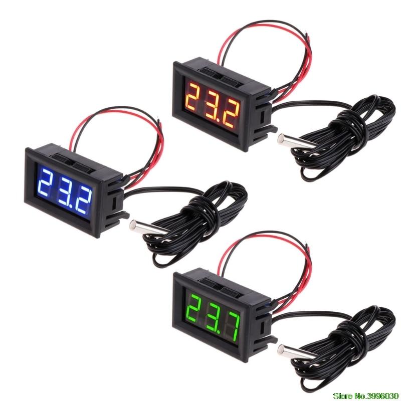 DC5-12v Digital LED Thermometer Car Temperature Monitor Panel Meter недорого