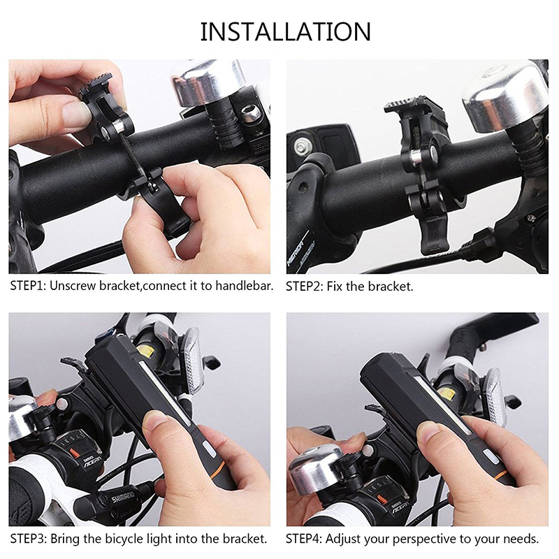Wind Talk 500 Lumens Two LED Flashlight For Bicycle Bike Handlebar MTB Cycling Light Set USB Rechargeable Front Headlight Lamps