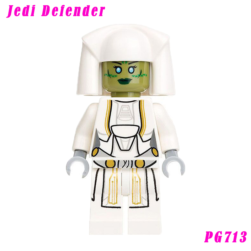 Single Sale Jedi Consular With Green Double-Bladed Lightsaber Star Wars 75025 Jedi Defender Building Blocks Toy Pg713
