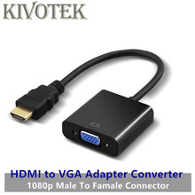 New HDMI to VGA Converter Adapter Cable HDMI Male 2VGA Female Connector HD1080P Digital to Audio for TV PC Laptop Free Shipping