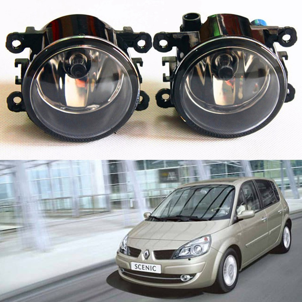 For Renault Scenic II JM0 JM1 MPV  2003-2009 car light sources Fog Lamps Car styling Fog Lights Halogen  1SET куплю тормозные колодки на renault scenic rx4