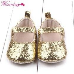 Милая детская обувь для первых шагов; детская хлопковая обувь с блестками для маленьких девочек; обувь на мягкой подошве; Bebe