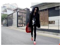 Delicate texture fake fur fur mink hair hooded coat long sleeve casual jacket in long fashion coat