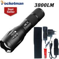 CREE XM-L T6 3800LM פנס LED zaklamp לפיד 5 מצב עמיד למים linternas E17 led Zoomable אמפה torche 3 3xaaa/18650 לפיד