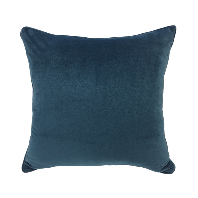 2017 Solid Peacock Blue Dull Velvet Pipping Cushion Cover Soft - Ds-2410-sofa-by-peter-maly-and-birgit-hoffmann
