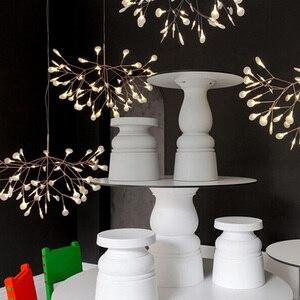 Image 5 - IKVVT זהב LED אורות תליון מתכת אקריליק עץ סניף צורת מקורה אור גופי מסעדת סלון תליון מנורה