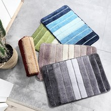 Stripe Carpet Anti-slip Mat Entry Door Mat Bedroom Living Room Mat Kitchen Bathroom Absorbent Mat Bathroom Supplies Household pebble series flannel printing home anti slip absorbent entry mat bathroom mat door mat bedside mat