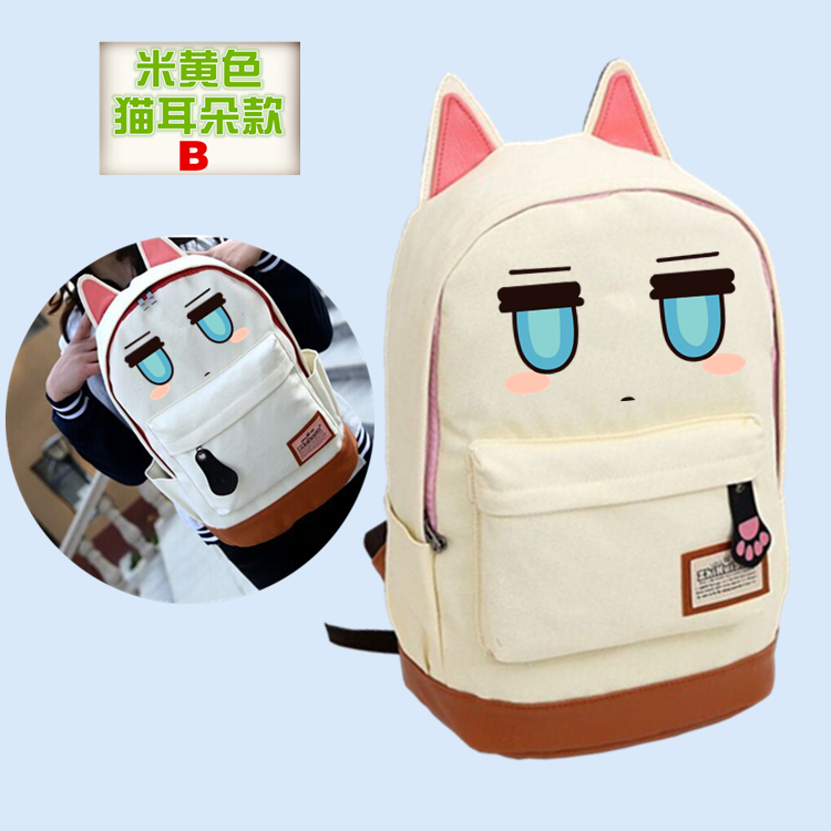 Anime BLACK ROCK SHOOTER Cosplay Anime backpack Korean version of the wind canvas female male student bag birthday gift korean version canvas shoulder bag backpack student bag ladies cartoon cute new child birthday gift