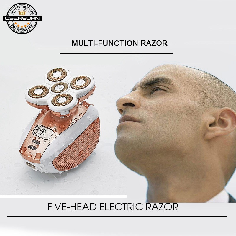 Electric Bald Razor hair razor Depilator Arm Legs Epilator man Female Hair Remover Rechargeable Body Removal