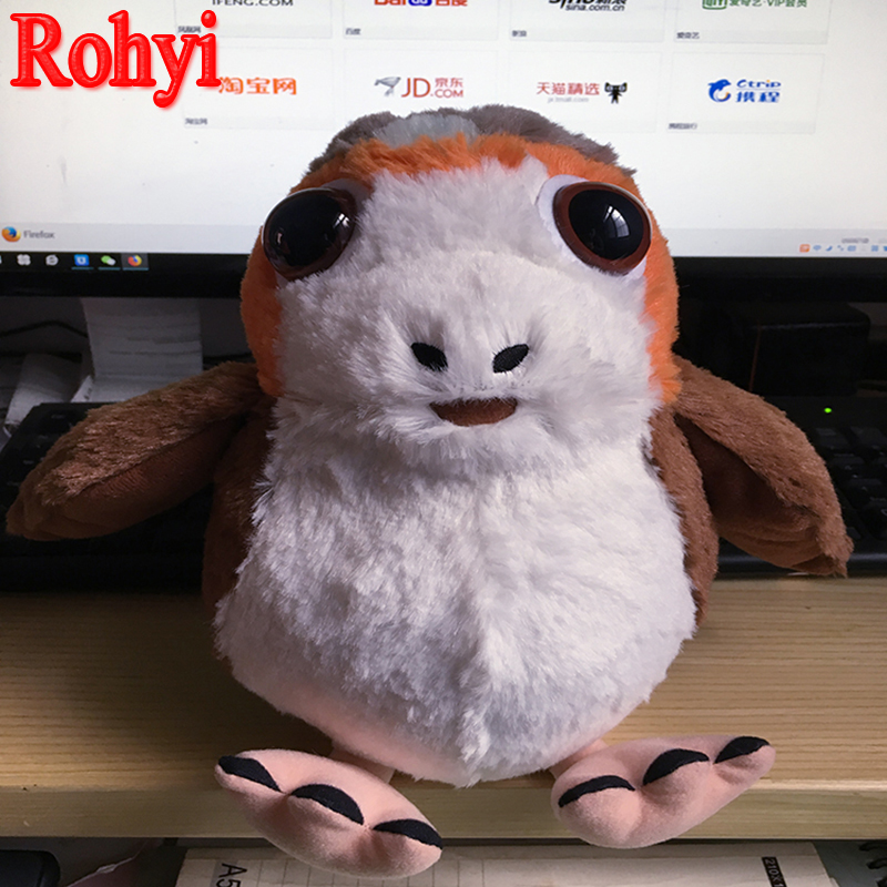 Rohyi The Last Jedi Porg Bird 15cm-25cm Plush Stuffed Toys TV & Movie Toy Christmas Gift for Easter Anime Doll Toy For Children image