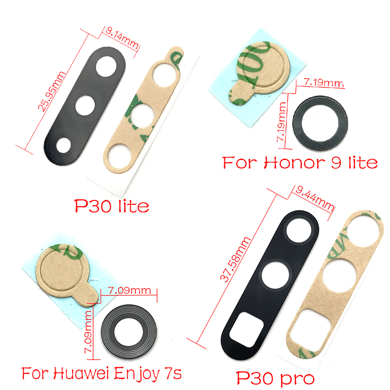 For Huawei Honor 10 P30 Pro Lite Glass Camera Lens With Tape Replacement